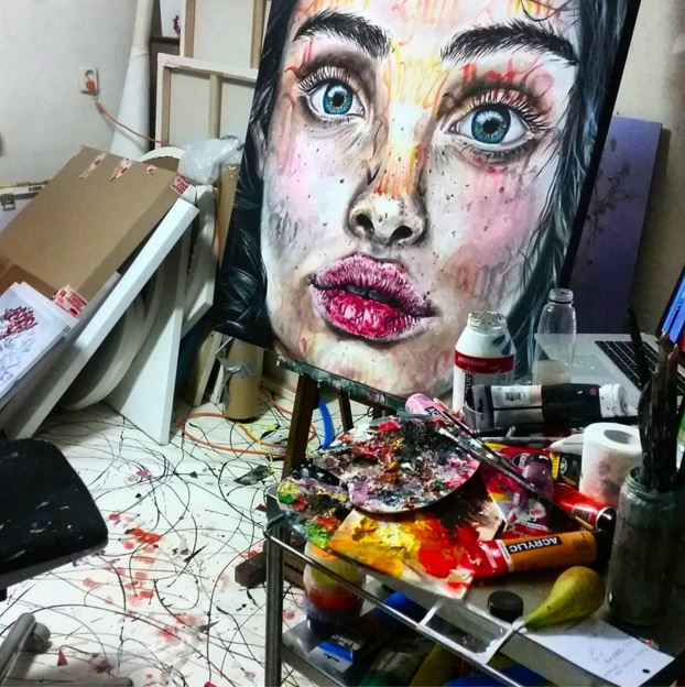 Maudy Alferink, atelier
