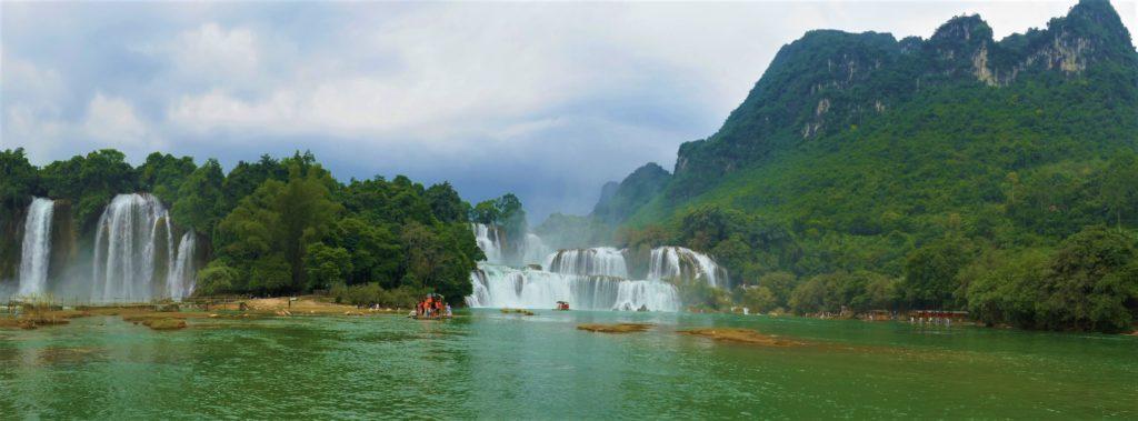 Ban Gioc, waterval, Vietnam, China